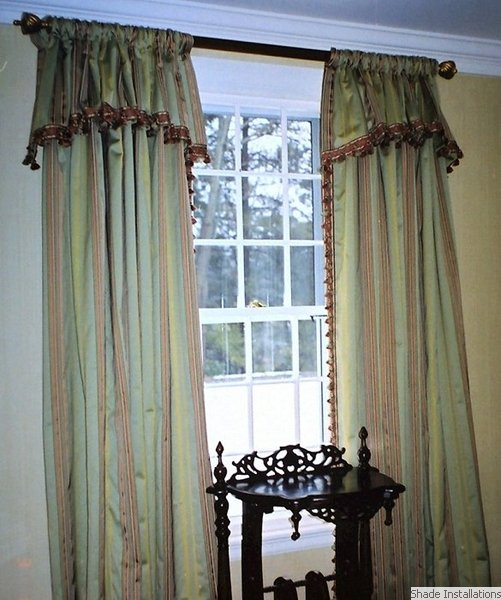 curtains with attached valance curtains blinds