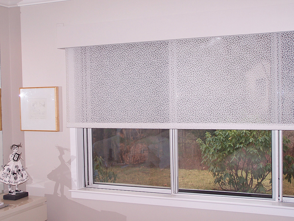 Custom motorized sunscreen shades boston installers blind for Motorized blinds shades