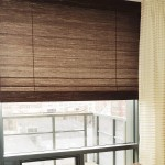 Roman shades can be light filtering or room darkening